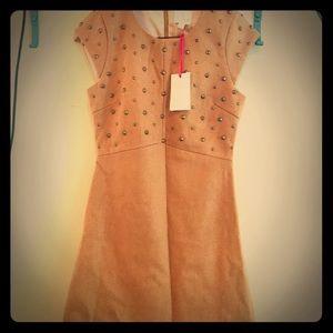Julie Brown NYC Camel Studded Mini Dress - Size 2
